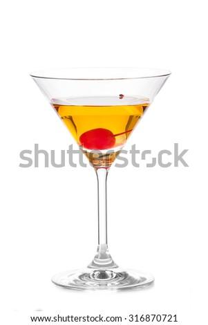 Cocktail ROB ROY - stock photo