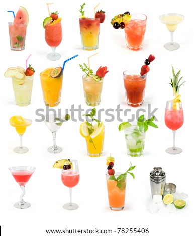 cocktail set, summer drinks