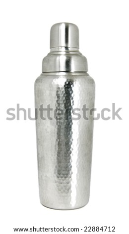 Cocktail Shaker Isolated - stock photo