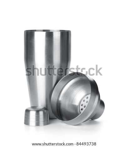 Cocktail shaker. Isolated on white background - stock photo