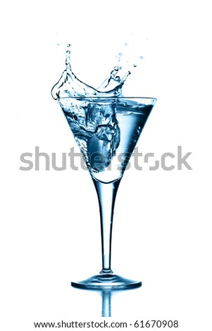 cocktail splash - stock photo