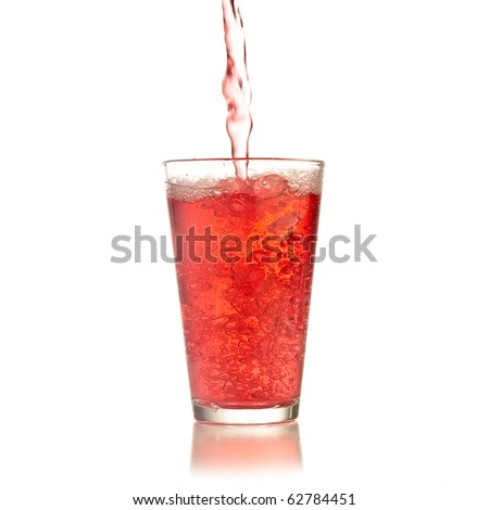 cocktail splash isolated on white background - stock photo