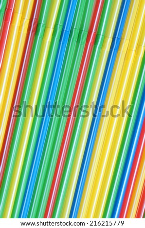 Cocktail straws, for backgrounds or textures - stock photo