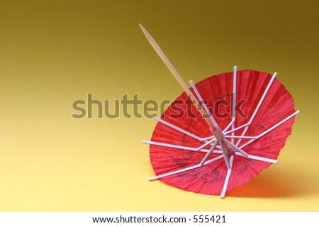 cocktail umbrella - red #1 - stock photo