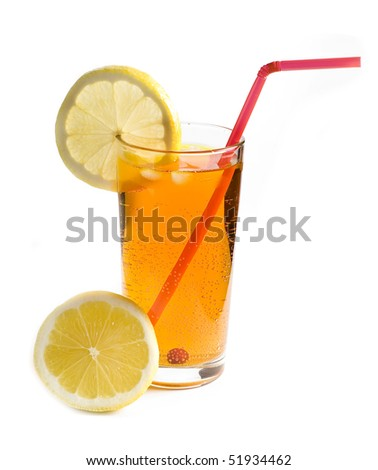 cocktail with lemon