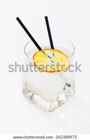 cocktail with orange - stock photo