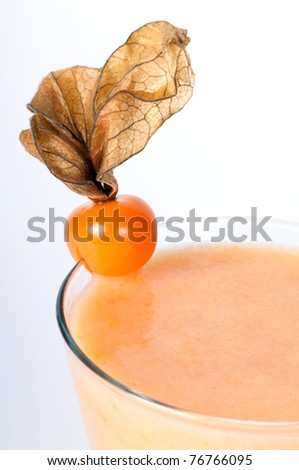 Cocktail with Physalis - stock photo