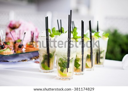 Cocktails on the table - stock photo