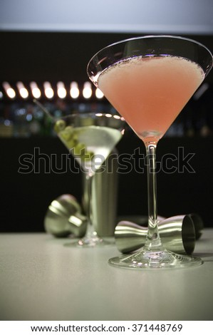 Cocktails ready for serving - stock photo