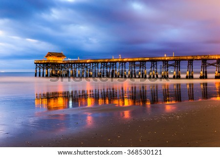 Cocoa Beach, Florida, USA at the pier.