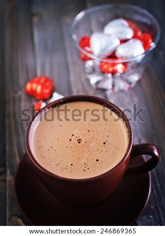 cocoa in cup - stock photo