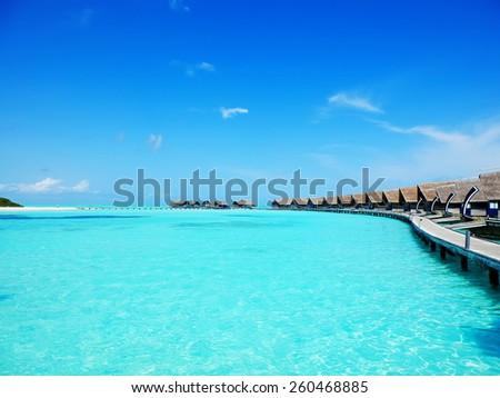 Cocoa island hotel in the Maldives - stock photo