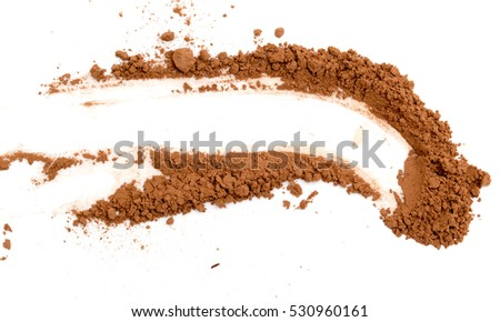 cocoa on white background