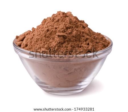 Cocoa powder - stock photo
