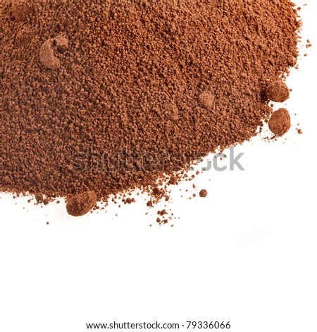 cocoa powder isolated - stock photo