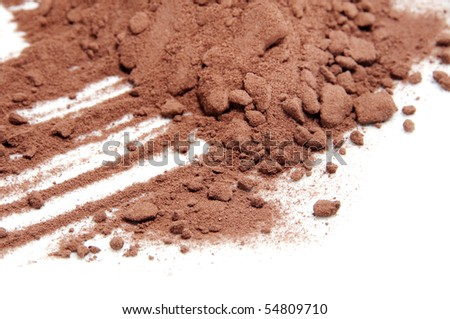 cocoa powder isolated on a white background - stock photo