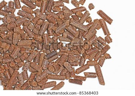 Cocoa shell pellets - stock photo