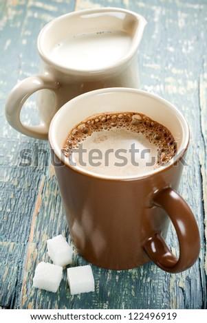 Cocoa with milk - stock photo