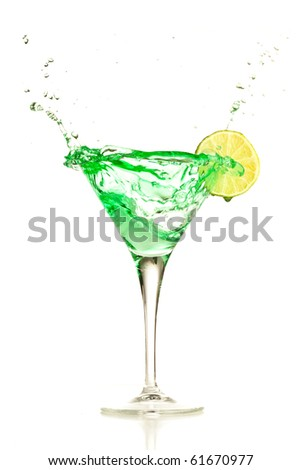 cocoktail splash - stock photo
