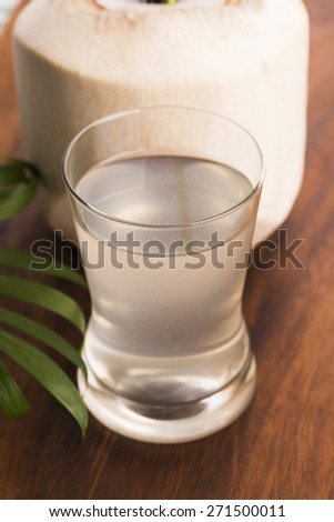Coconut and coconut water - stock photo