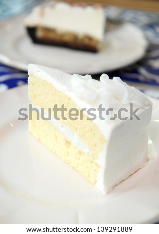 coconut cake - stock photo