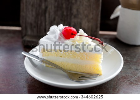 coconut cake on white plate, coconut cake