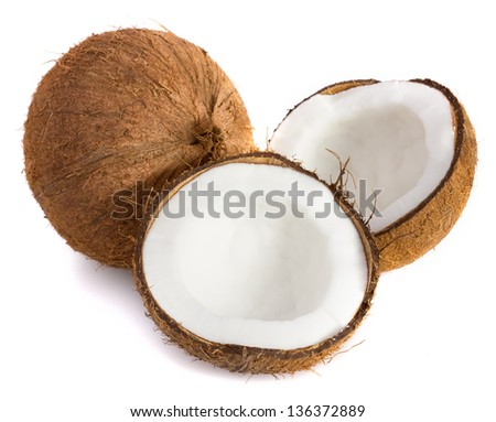 Coconut. Coco Nut isolated on white Background - stock photo