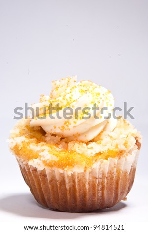 Coconut Cupcake - stock photo