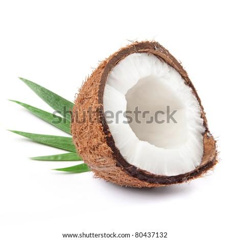 coconut half - stock photo