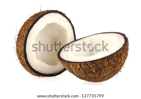 coconut isolated a white background - stock photo