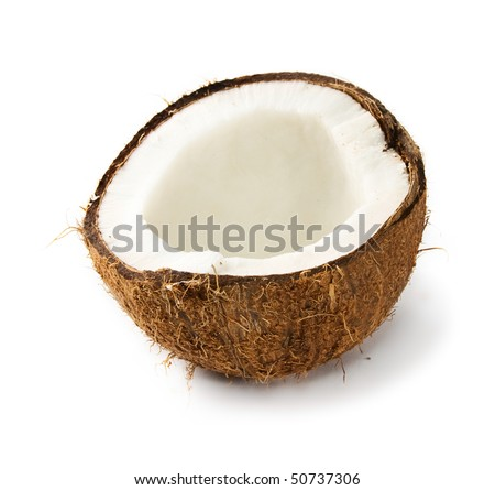 Coconut isolated on the white background - stock photo