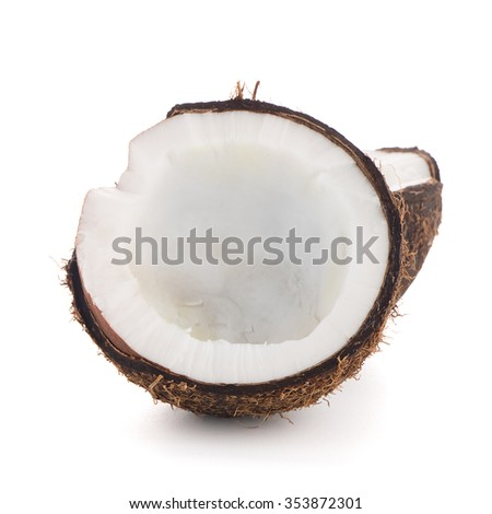 Coconut isolated on white. - stock photo