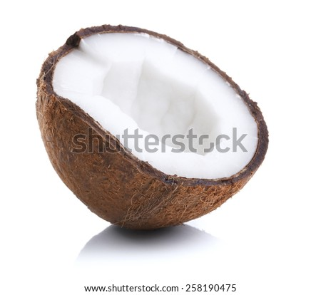 Coconut Isolated on White Background - stock photo