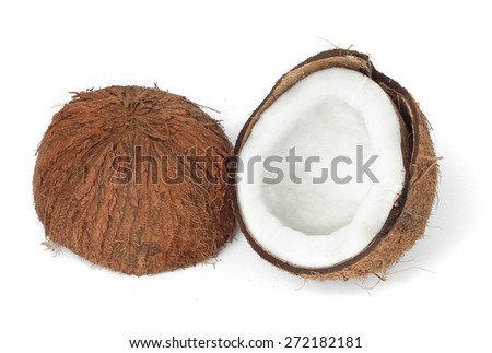 Coconut isolated on white background. - stock photo