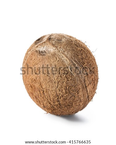 Coconut isolated on white background. Clipping Path - stock photo
