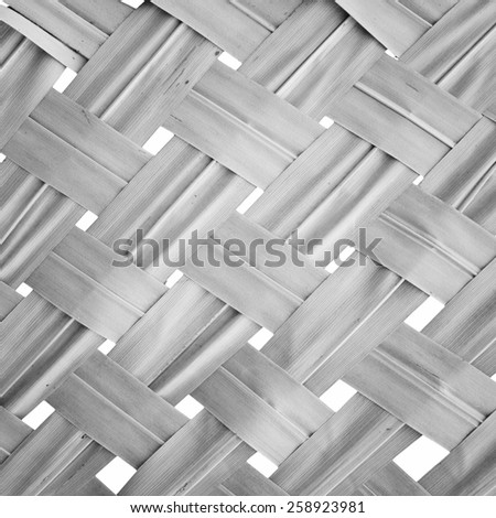 coconut leaves weave pattern ,Vignette. Textured Background. - stock photo
