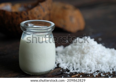 coconut milk  - stock photo