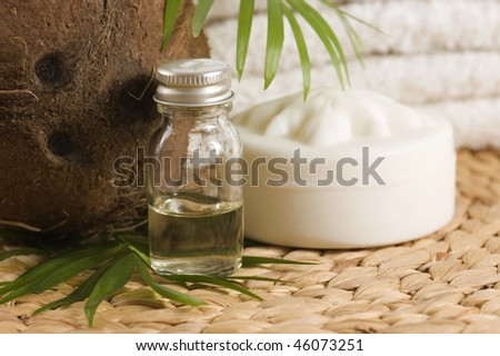 Coconut oil for alternative therapy - stock photo