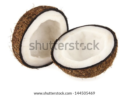 coconut on a white background - stock photo