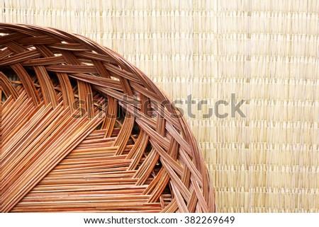 Coconut-palm leaf Wicker  - stock photo