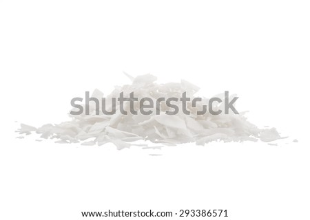 Coconut's chips, isolated on white background - stock photo