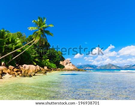 Coconut Sea Scene  - stock photo