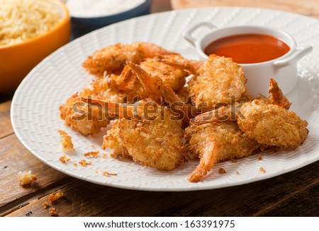 Coconut Shrimp - stock photo
