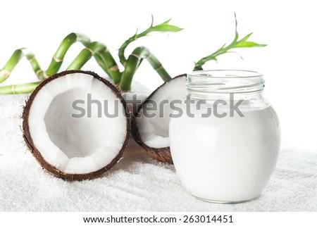 Coconut, Spa Treatment, Coco. - stock photo