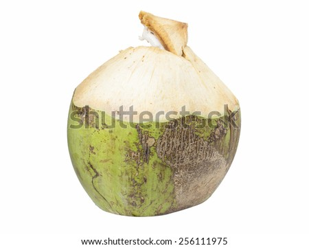 Coconut water drink on white background - stock photo