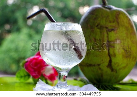 Coconut with coconut water