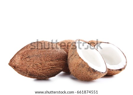 Coconuts isolated on a white background