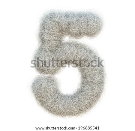 cocoon number - stock photo