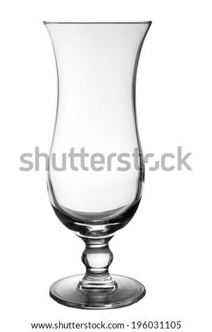 coctail empty glass isolated on white background - stock photo
