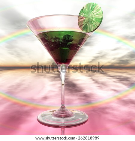 Coctail Glass - stock photo